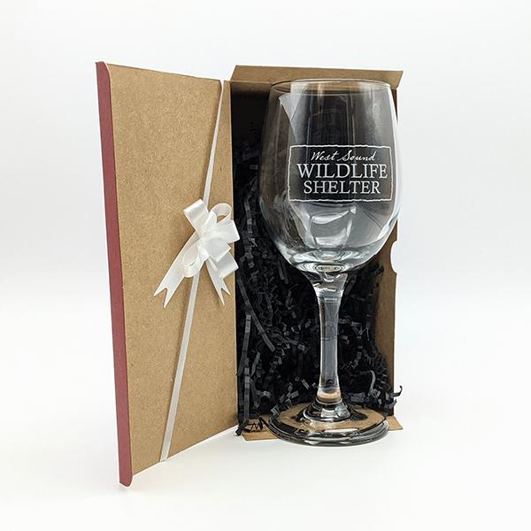 WSWS Stemmed WIne Glass 9in