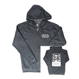 WSWS dark Heather Gray zip hoodie