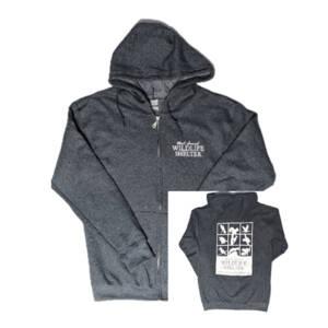 WSWS dark Heather Gray zip hoodie